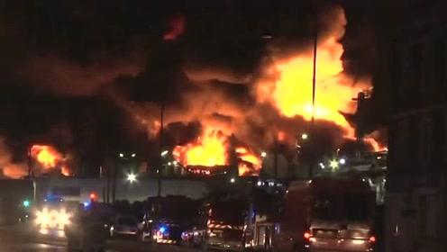 法国一化工厂发生火灾 当局下令关闭周边学校