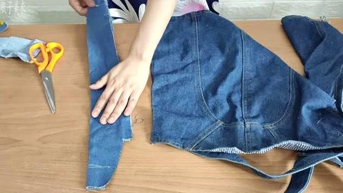新买的牛仔背带裙小了穿不上怎么办,教你一个裙子改大的小方法