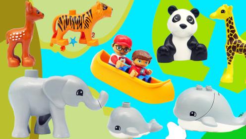 乐高积木的漂流场景玩具