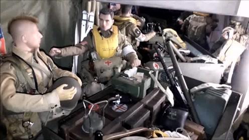 一二战士兵模型,每一个格子里都有一个时代的标志!