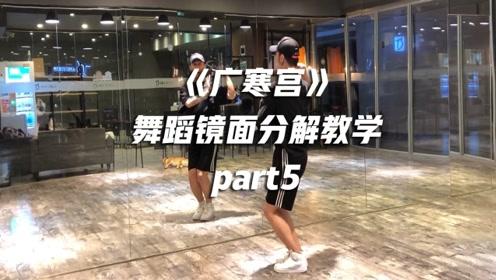 白小白《广寒宫》舞蹈镜面分解教学part5