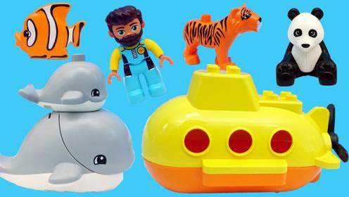乐高LEGO积木的水族馆场景玩具