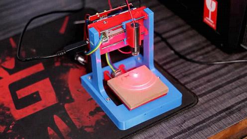 手工黑科技作品,学习如何制作一台小型激光打印机,非常有创意!