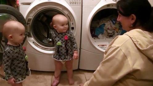 妈妈说不再给宝宝洗衣服,接下来宝宝的举动,妈妈心都要融化了