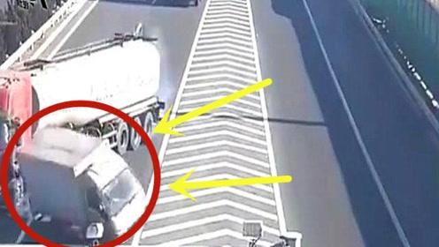 太惨烈!货车错过高速出口突然一脚急刹,下一秒悲剧了!