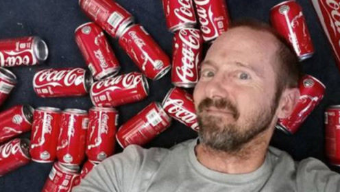 一次喝100罐可乐会怎样?老外作死挑战,结果悲剧了!