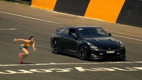 短跑女冠军与赛车比赛!她能否跑赢汽车?看完你别不相信