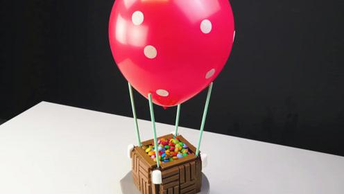 """牛人发明巧克力创新吃法:做成想飞的""""热气球"""",有才就是任性!"""
