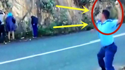 偷苹果的贼怎么惩罚?警察抓到小偷后,5秒后真解气!
