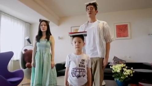 杜江曝儿子近照,6岁嗯哼站军姿超有范,颜值却让网友怀疑抱错了