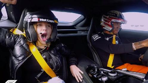 F1世界冠军回驾校,女孩极速狂飙120,车手:你是在散步吗?