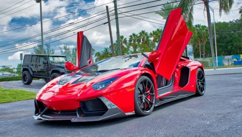 兰博基尼Aventador红色版本