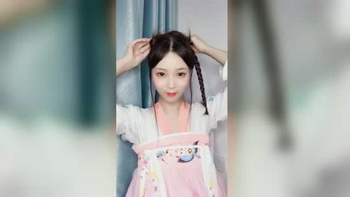 汉服发型教程:可以戴簪子的明制全盘发型,全真发无发包哦!