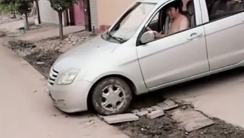 毫无疑问,这驾照肯定是自己考的,一般老司机都不敢这样开啊!