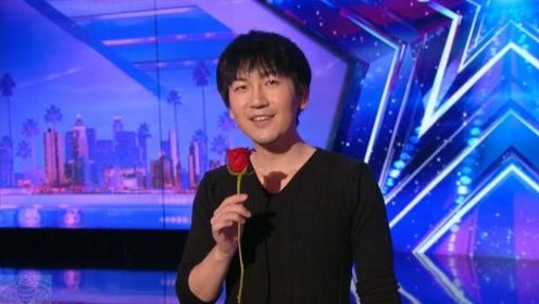 美国最强达人秀,中国小伙一个响指,台下评委脸色大变
