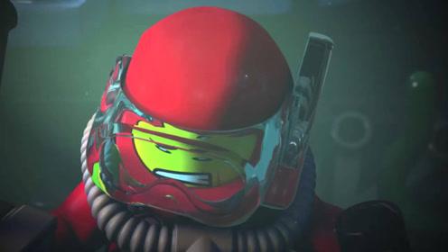 水下探险队在深海,寻找海盗宝藏,却不知黑暗中危险四伏!