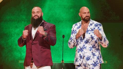 WWE官方发布 英国拳王泰森富里向人间怪兽下战书 握手气氛剑拔弩张