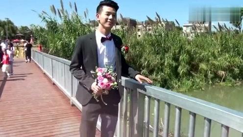 湖南一对新人结婚,新娘清新脱俗,好漂亮,新郎阳光帅气,好般配