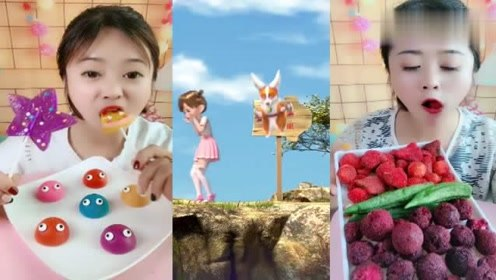 美女直播吃星星棒棒糖、杨梅脆,各种口味任意选,是小时候的向往!
