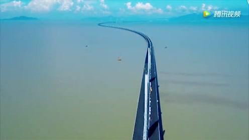 港珠澳大桥原来这么壮观呀,看了会上瘾,厉害了中国