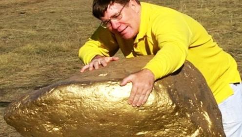 在野外发现一块石头,搬开一看,老外直呼发财了!
