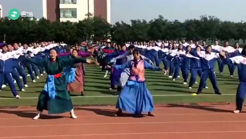 现在学校的课间操简直就是大型舞蹈现场,实在是太优秀了,超欢乐