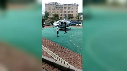 打个篮球还要直升机接送,有钱了不起啊?