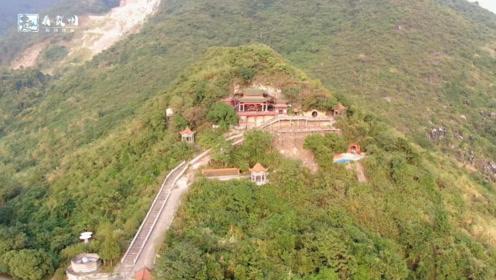 广西贺州:航拍壮观的水岩坝大庙山,据说是个极佳的风水宝地