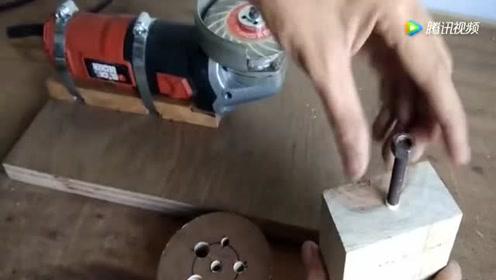非常贵的钻头钝了不会磨,超级高手教你制作傻瓜式磨钻机!