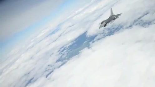 空中出现震撼的画面,两个快速的飞行物在配合飞行