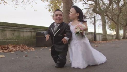 世界上最矮的夫妻,两个人加起来还没正常人高,如今生活的让人羡慕