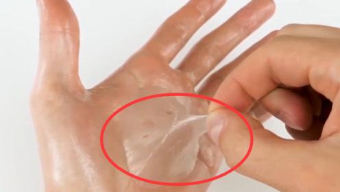 老外猎奇实验,用胶水做手膜,撕的时候太酸爽