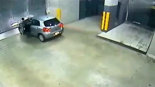 被自己的车结束生命,真是第一次见,监控拍下全程