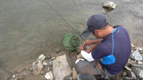 钓鱼:小水沟小河鱼,只有这小鱼竿才能钓出感觉来!