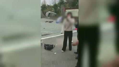"""什么仇什么怨!夫妻公路上演""""追逐战"""" 一车失控致2死1重伤"""