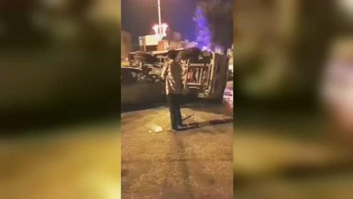 突发!广东潮州一轿车与道路清洁车相撞致4死1伤