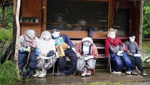 日本最诡异村庄,村民竟都是稻草人,网友:这谁敢去?