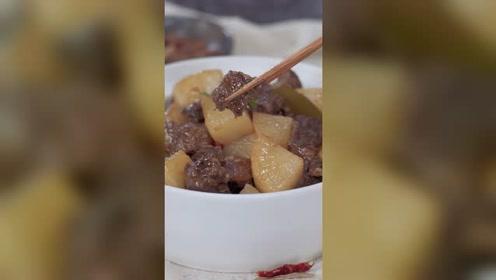 萝卜炖牛腩的家常做法,软烂入味,出锅香气扑鼻,吃两大碗都不够