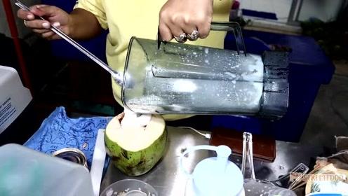 你喝过真正的椰子奶昔吗?绝对真材实料货真价实