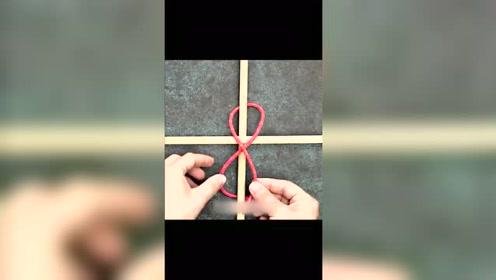 木棍怎么来捆绑,一个小妙招教你如何打绳结