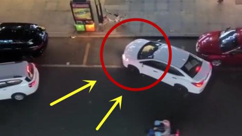 """后车司机""""神走位"""",车位全靠抢,确定不会被打么?"""
