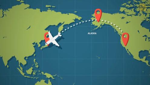 飞机飞越太平洋,为什么采取环绕飞行方式,而不是直线飞过去?