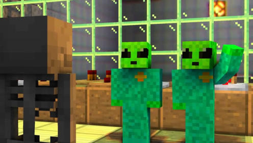 外星人被关在了实验室,同伙请骷髅人帮忙,竟然只是让他当替罪羊!