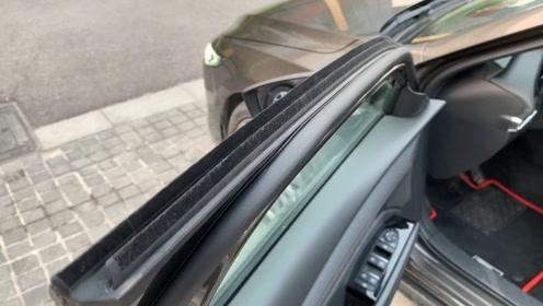 次世代马自达3在隔音方面下猛力,看这车窗的隔音条