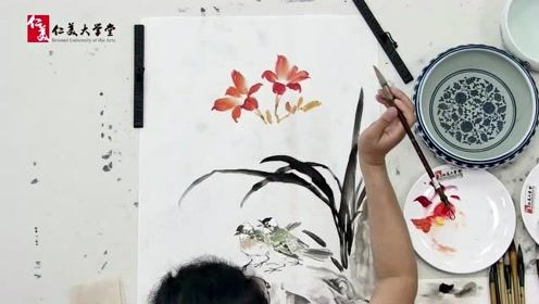 南开教授张永敬创作白头萱草 竟如此精彩!收藏学习不可错过