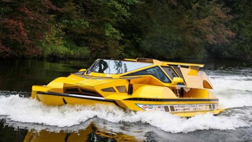 """老外花10年670万元,打造了一辆水陆两栖车,现实版""""宇宙飞船"""""""