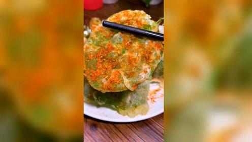 炸青菜叶子美食小吃,这样也能吃,请问你们喜欢吃吗