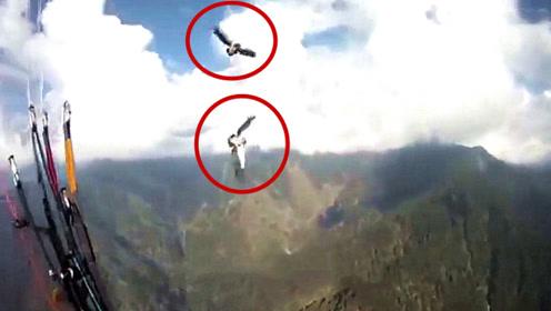 男子高空跳伞遭遇老鹰袭击,降落伞被抓破,镜头拍下可怕瞬间!