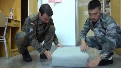 17国军队来中国学习解放军叠被子,印度士兵:我太难了