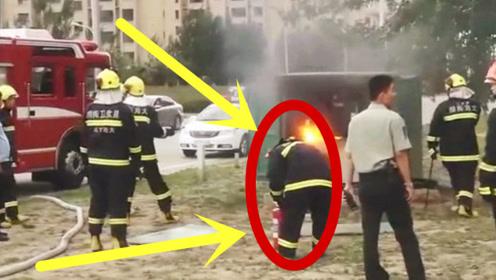 逆风而上!消防官兵灭火时,现场突然发生爆炸